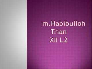 m.Habibulloh Trian XII L2