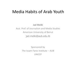 Media Habits of Arab Youth