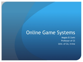 Online Game Systems