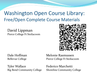 Washington Open  Course  Library: Free/Open Complete Course Materials