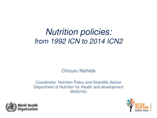 Nutrition policies: from 1992 ICN to 2014 ICN2