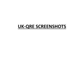 UK-QRE SCREENSHOTS