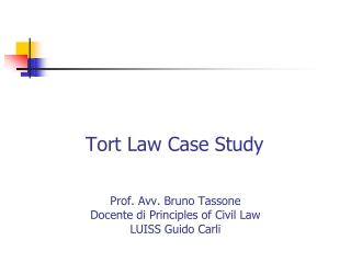 Tort Law Case Study