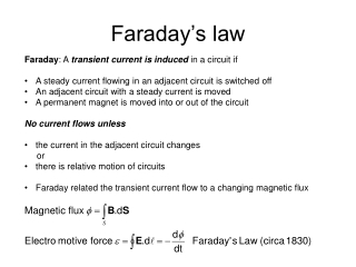 Faraday's law