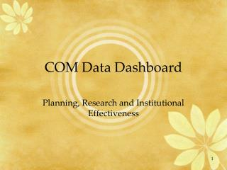 COM Data Dashboard