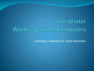 Jon Winter Winter Systems Computers