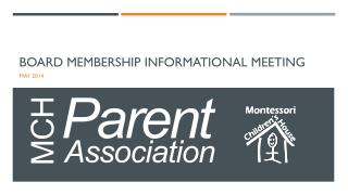 Board Membership  Informational Meeting