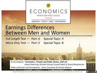 Earnings Differences  Between  Men and Women
