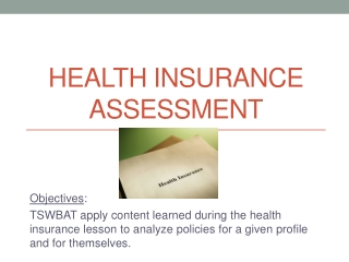 Health Insurance Assessment