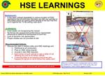 contact mse511 for further information or visit hse website   stop observation alert no 36  january, 2011