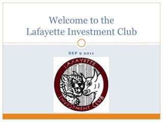 Welcome to the Lafayette Investment Club