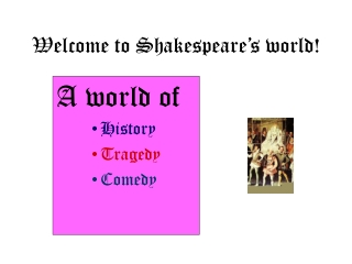 Welcome to Shakespeare�s world!