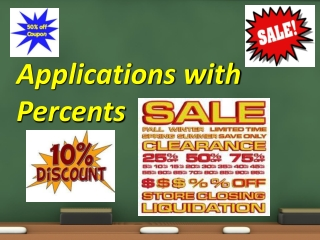 Applications with Percents