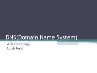 DNS(Domain  N ame  S ystem)