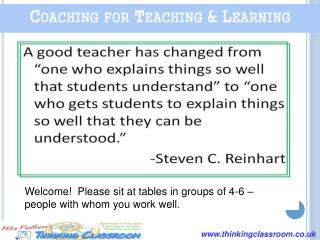 Coaching for Teaching & Learning