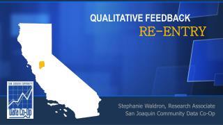 QUALITATIVE FEEDBACK RE-ENTRY