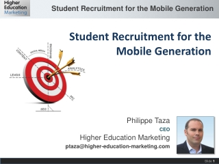 Philippe Taza CEO Higher Education Marketing ptaza@higher-education-marketing.com