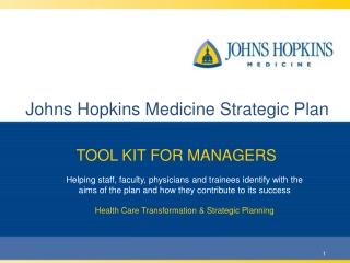 Johns Hopkins Medicine Strategic Plan