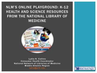 NLM's Online Playground: K-12 Health and Science Resources from the National Library of Medicine
