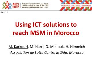 Using ICT solutions to reach MSM in Morocco