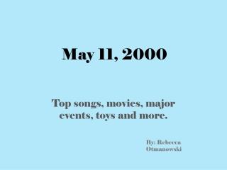 May 11, 2000