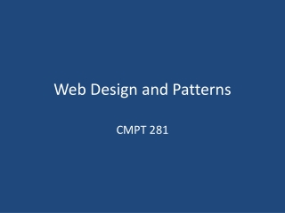 Web Design and Patterns