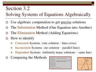 section 3.2   solving systems of equations algebraically