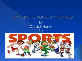My sports survey monkey