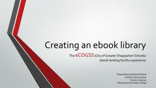 Creating an ebook library