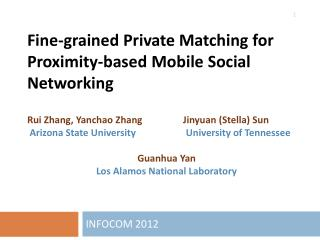 Fine-grained Private Matching for Proximity-based Mobile Social Networking