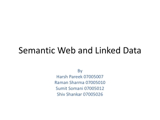 Semantic Web and Linked Data
