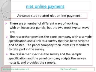 Why You Need a niet online payment