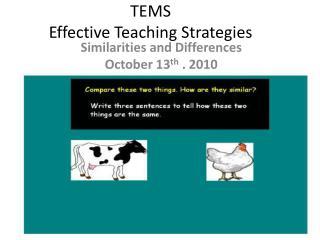 TEMS Effective Teaching Strategies