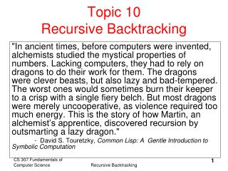 topic 10 recursive backtracking