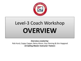 Level-3 Coach Workshop OVERVIEW