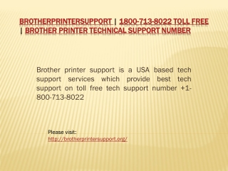 Brotherprintersupport | 1800-713-8022 Toll Free | Brother P