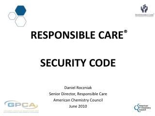Responsible  CarE ® Security Code