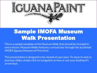 Sample IMOFA Museum Walk Presentation
