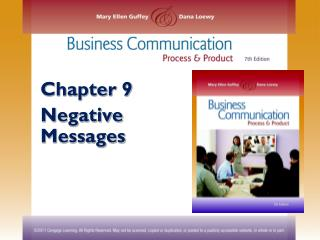 Chapter 9 Negative Messages