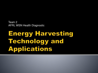Energy Harvesting Technology and Applications
