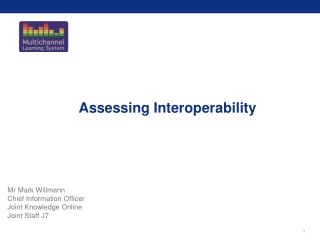 Assessing Interoperability