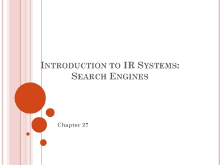 Introduction to IR Systems:  Search  Engines