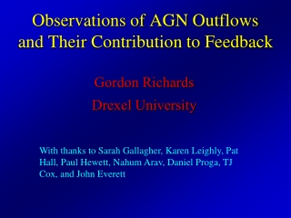 Observations of AGN Outflows and Their Contribution to Feedback