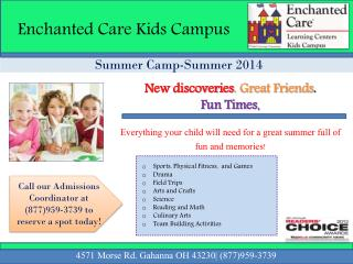 Summer Camp-Summer 2014