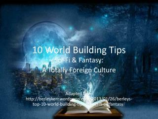10 World Building Tips