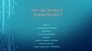 Gps technıque  term project