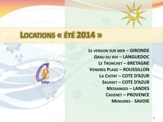 Locations «été 2014»