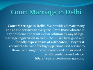Court Marriage in Delhi
