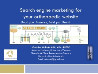 Search engine marketing for your  orthopaedic  website
