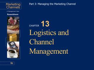 Logistics and Channel Management
